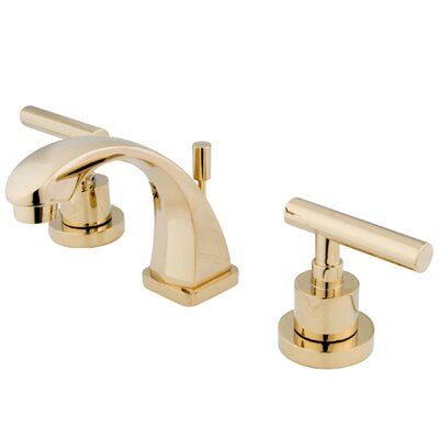 Sydney Mini-Widespread Bathroom Faucet with Lever Handles Finish: Polished Brass