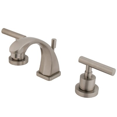 Sydney Widespread Double Handle Bathroom Faucet with Drain Assembly Finish: Satin Nickel