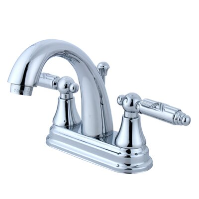 Elizabeth Centerset Double Handle Bathroom Faucet with Drain Assembly Finish: Chrome
