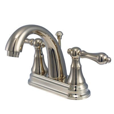 Elizabeth Centerset Bathroom Faucet with Double Lever Handles Finish: Polished Brass