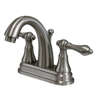 Elizabeth Centerset Bathroom Faucet with Double Lever Handles Finish: Satin Nickel