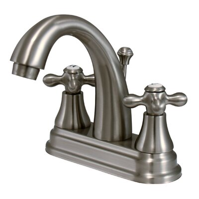 Elizabeth Centerset Bathroom Faucet with Double Cross Handles Finish: Satin Nickel