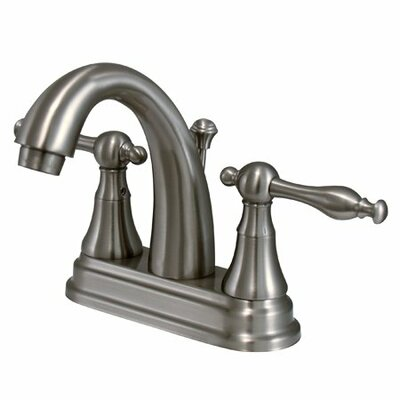 Centerset Double Handle Bathroom Faucet with Drain Assembly Finish: Satin Nickel