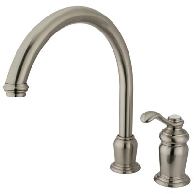 High Spout Widespread Kitchen Faucet with Templeton Lever Handle Finish: Satin Nickel