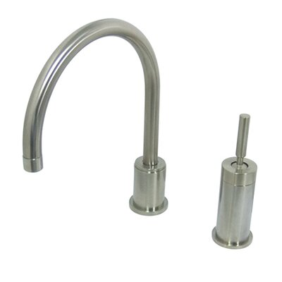 Widespread Kitchen Faucet with Metal Lever Handle Finish: Oil Rubbed Bronze