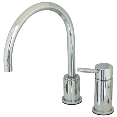 Single Handle Widespread Kitchen Faucet with Metal Lever Handles Finish: Polished Chrome