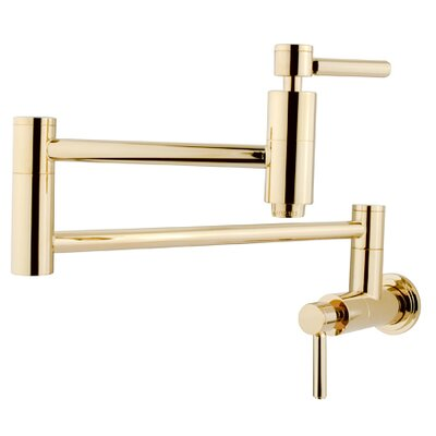South Beach Wall Mount Pot Filler Finish: Polished Brass