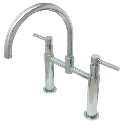 Widespread Vessel Sink Faucet with Double Metal Cross Handles Finish: Polished Chrome