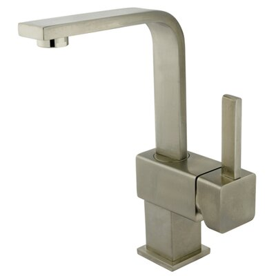 Rio Single Handle Bathroom Faucet with Push Up Drain Finish: Satin Nickel