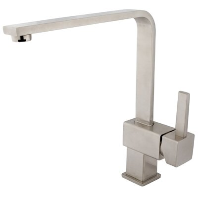 Rio Single Handle Kitchen Faucet Finish: Satin Nickel