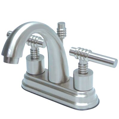Milano Centerset Bathroom Faucet with Double Lever Handles Finish: Polished Chrome