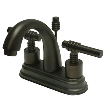 Milano Centerset Double Handle Bathroom Faucet with Drain Assembly Finish: Oil Rubbed Bronze