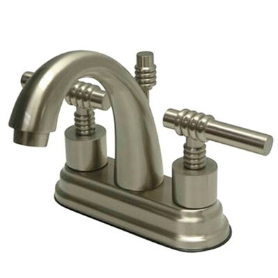 Milano Centerset Bathroom Faucet with Double Lever Handles Finish: Satin Nickel