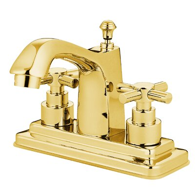 Tampa Centerset Bathroom Faucet with Double Cross Handles Finish: Polished Brass