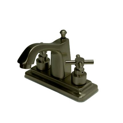 Tampa Centerset Bathroom Faucet with Double Cross Handles Finish: Oil Rubbed Bronze