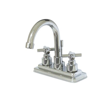 Tampa Centerset Bathroom Faucet with Double Cross Handles Finish: Polished Chrome
