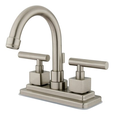 Rio Double Handle Centerset Bathroom Faucet with Pop-up Finish: Satin Nickel
