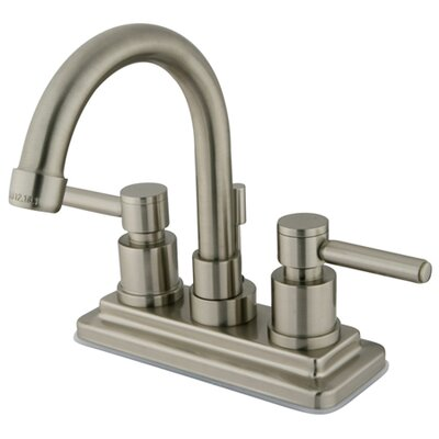 South Beach Double Handle Centerset Bathroom Faucet with Brass Pop-Up Finish: Satin Nickel