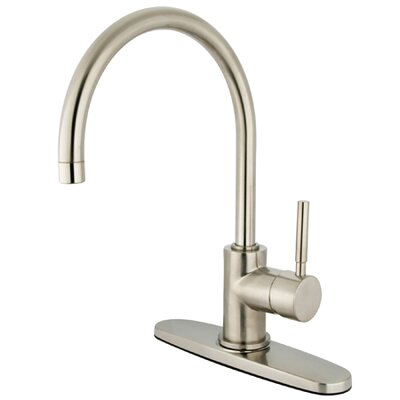 South Beach Single Handle Kitchen Faucet with Plate Finish: Satin Nickel