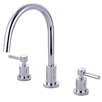 South Beach Double Handle Widespread Kitchen Faucet Finish: Polished Chrome