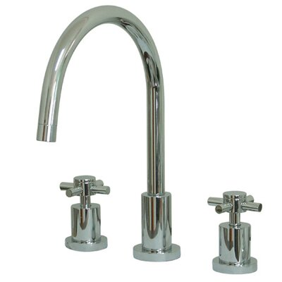 South Beach Double Cross Handle Widespread Kitchen Faucet Finish: Polished Chrome