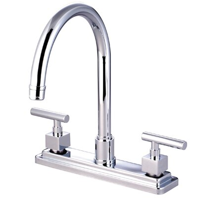 Rio Double Handle Kitchen Faucet Finish: Polished Chrome