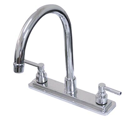Tampa Double Handle Centerset Kitchen Faucet with Elinvar Lever Handles Finish: Polished Chrome