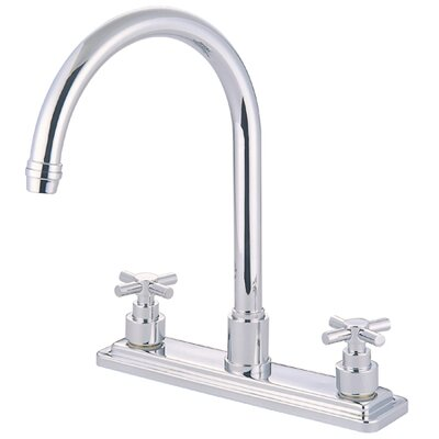 Tampa Double Handle Centerset Kitchen Faucet with Elinvar Cross Handles Finish: Polished Chrome