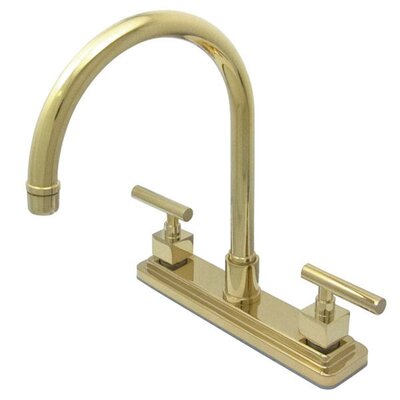 Rio Double Handle Kitchen Faucet Finish: Polished Brass