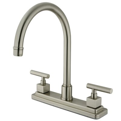 Rio Double Handle Kitchen Faucet Finish: Satin Nickel
