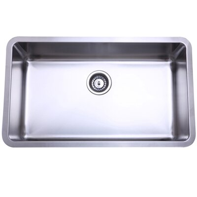 30.13 x 17.88 x 10 Undermount Single Bowl Kitchen Sink