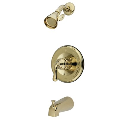 Single Lever Handle Volume Control Tub Shower Faucet Finish: Polished Brass