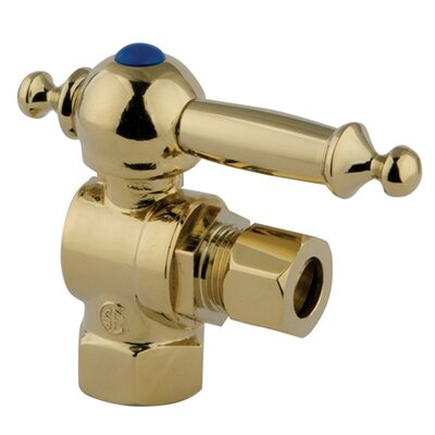 1.75 x 2.75 Decorative Quarter Turn Valves Finish: Polished Brass