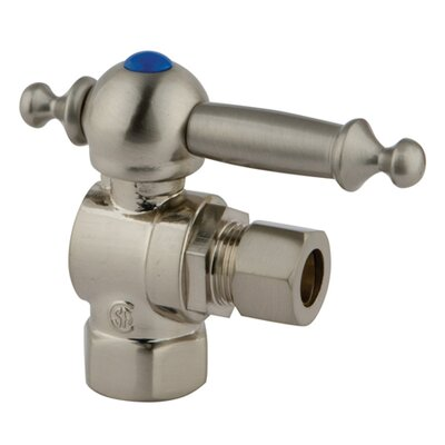 1.75 x 2.75 Decorative Quarter Turn Valves Finish: Satin Nickel