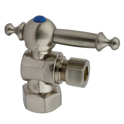 2 Decorative Quarter Turn Valves Finish: Satin Nickel
