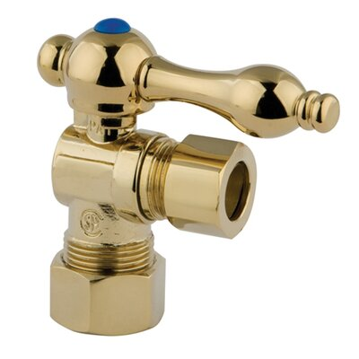 Quarter Turn Valve with Lever Handles Finish: Polished Brass