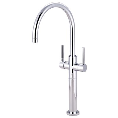 South Beach Double Handle Vessel Sink Faucet without Pop-Up Finish: Polished Chrome