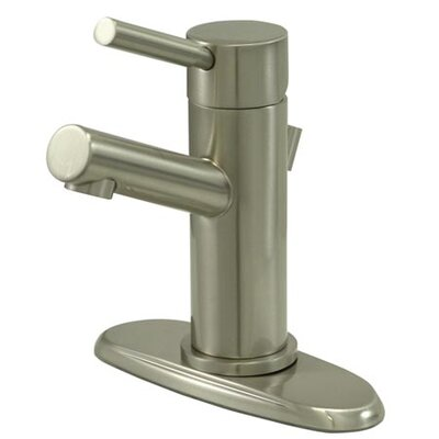 South Beach Single Handle Mono Block Centerset Bathroom Faucet with Pop-Up Drain and Plate Finish: Satin Nickel