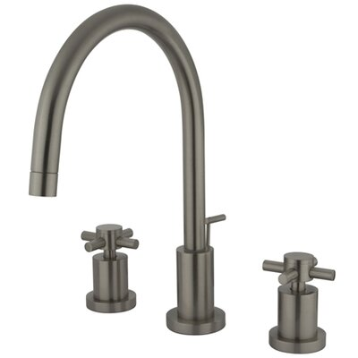 South Beach Double Cross Handle Mini-Widespread Bathroom Faucet Finish: Satin Nickel