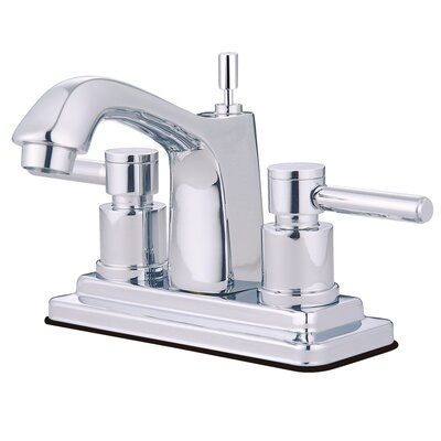 South Beach Double Handle Centerset Bathroom Faucet with Brass Pop-Up Finish: Polished Chrome