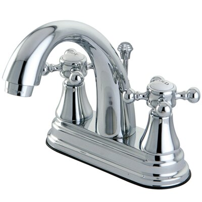 Elizabeth Centerset Bathroom Faucet with Double Cross Handles Finish: Polished Chrome