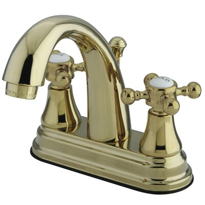 Elizabeth Centerset Bathroom Faucet with Double Cross Handles Finish: Polished Brass