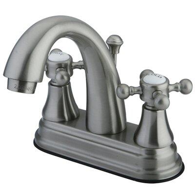 Elizabeth Centerset Bathroom Faucet with Double Cross Handles Finish: Satin Nickel