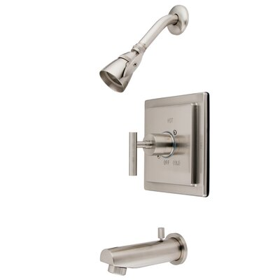 Elements of Design Manhattan Volume Control Tub and Shower Faucet Single Handle - Finish: Satin Nickel at Sears.com