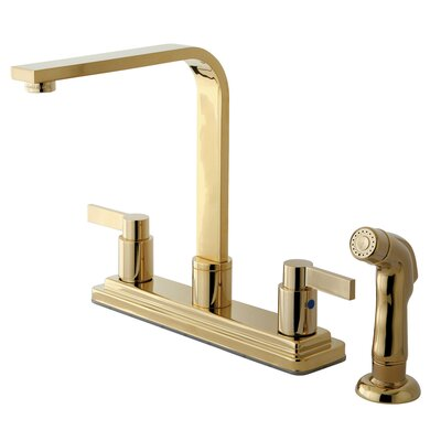 Buy Low Price Elements Of Design Nuvofusion Euro Double Handle Centerset High Rise Spout Kitchen