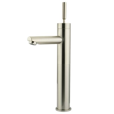 Concord Single Handle Single Hole Bathroom Faucet without Pop-Up and Plate Finish: Satin Nickel