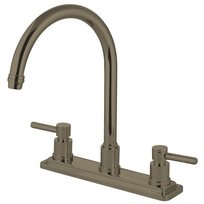 Concord Double Handle Kitchen Faucet Finish: Satin Nickel