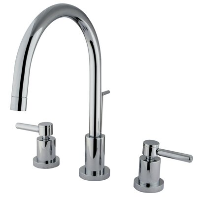 Concord Double Handle Single Hole Widespread Bathroom Faucet Finish: Polished Chrome