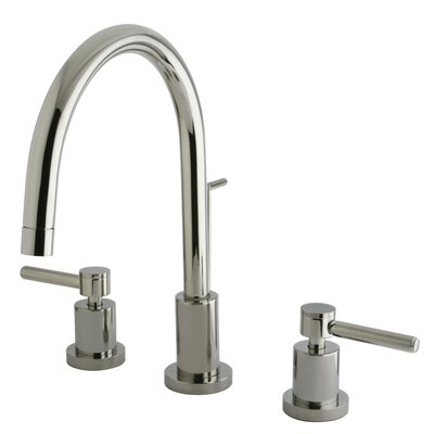 Concord Double Handle Single Hole Widespread Bathroom Faucet Finish: Polished Nickel