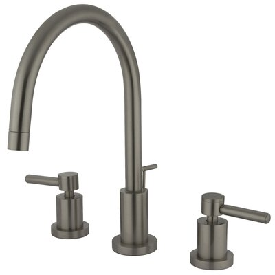 Concord Double Handle Single Hole Widespread Bathroom Faucet Finish: Satin Nickel